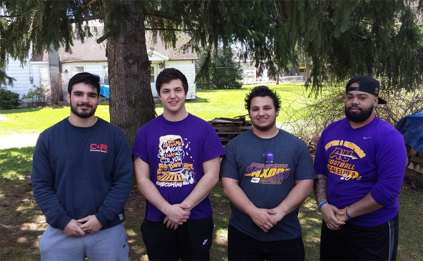 AU Saxons offering community service time to help area families.